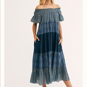 Free People Something Plaid Off The Shoulder Dress